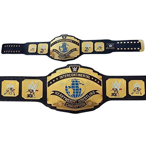House of Highland 77 Interkontinentalgürtel Meisterschaft Wrestling Leder für Erwachsene WWE Gürtel, Schwarz