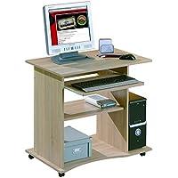 13Casa - Office 6 , mini ufficio con ruote, rovere