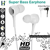 #5: Hugo™ Stereo Earphone Hands-Free 3.5Mm Jack In-Ear Super Extra Bass Headphone Headset With Mic Compatible with Samsung, Motorola, Sony, Oneplus, HTC, Lenovo, Nokia, Asus, Lg,Oppo,Vivo, Coolpad, Xiaomi, Micromax and All Mobiles (Colours May Vary)