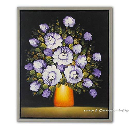 100% handgemalte hohe Q Blume Ölgemälde Pinsel/Messer Klassische Leinwand Kunst Wanddekoration Dekoration