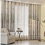1 Fenstervorhang, mit Baummotiven, Tüll-/Voile-Vorhang, von squarex, Voile, multi, Size: 100X250cm