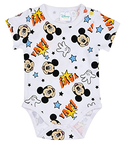 Disney mickey babies boys body neonato - bianco - 3m