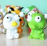 zcsmg Funny erhöhte Augen Puppe Anti-Stress-Ball Animal Schlüsselanhänger Quetschen Spielzeug (zufällige Farbe)