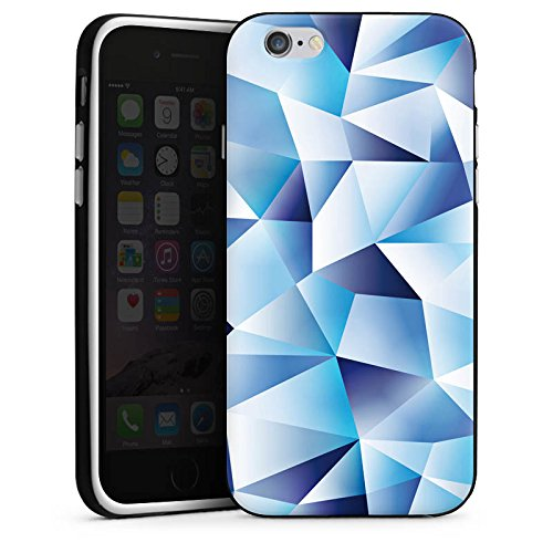 Apple iPhone X Silikon Hülle Case Schutzhülle Kristall Muster Struktur Silikon Case schwarz / weiß