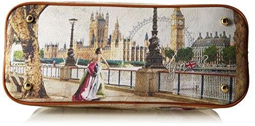 Y NOT? H-325, sac à main Multicolore (Amazing London)