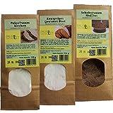 Paleo Mehl GLUTENFREI Backmischung für 1x Muffins (1x 6 Stück) 1x Brot (1x 350 gr Brot) 1x Wecken (1x 300 gr Wecken)