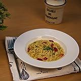 #10: Homesake White Fine Porcelain Soup Plate, Bone China for Pasta, Gravy, Serving