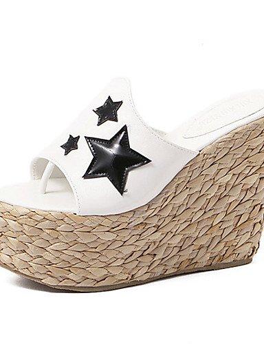 formal Cinto Donna Elegante Finta De As Branco Com Sapatos Sandálias Pele Plateau Casual Conforto Zeppe sandali Preto Negra Uwszz Zeppa cB1WCq6C7