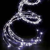 Déco Noël - Guirlande lumineuse 200 micro LED - Effet CASCADE sur 2 m - Eclairage fixe - Coloris BLANC Froid