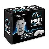 MINDTHEGUM Integratore per Concentrazione, Memoria e Stanchezza Mentale in Gomma con Caffeina, Vitamine, Minerali, Fosforo - 36 chewing gum