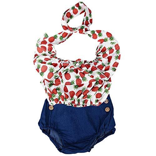 Mädchen Baby Sweatshirt, fliegende Ärmel Shirt Tops + Jeans Shorts Outfits 2er Set(80) -