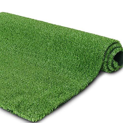 AQAWAS Kunstrasen Rasenteppich für Balkon, Kunstrasen Gras Einfach Zu Säubern, Wasserdurchlässig Kunstrasen Rasenteppich Ungiftig 1cm Für Den Innen Und Außenbereich,Green_2x3m/6x9ft