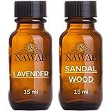 NAWAB Lavender and Sandalwood Essential Aroma Diffuser Oil (15ml, NS-038)