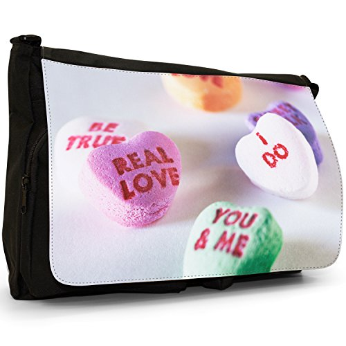 Fancy A Bag Borsa Messenger nero Jelly Fruit Tot Sweets Candy Heart Sweets Candy Love You Me
