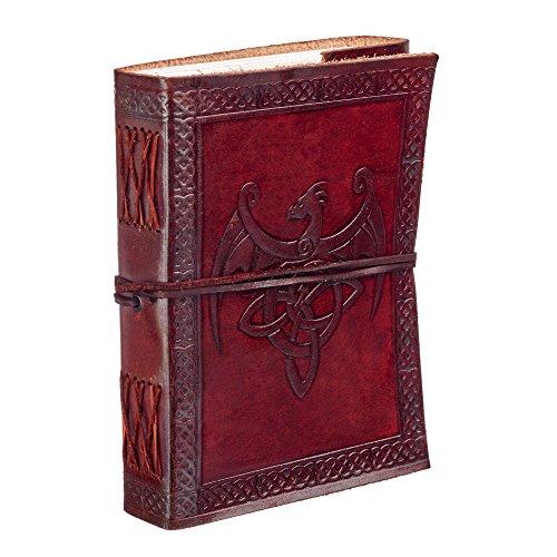 Celtique Dragon ailé Cuir Journal ordinateur portable