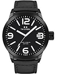 TW Steel Marc Coblen Edition mit Lederband 50 MM Black/Black TWMC55