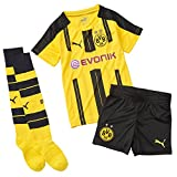 Puma Kinder Set BVB Home Minikit with Sponsor Logo, cyber yellow-black, 92, 749838 01