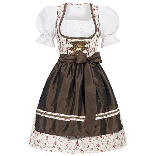 Gaudi-leathers bavarese dirndl set erna 3 pezzi costume tipico tirolese per oktoberfest carnevale donna 40