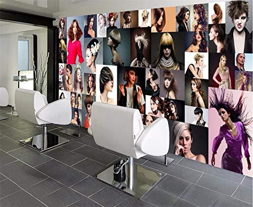 Mural PapelPintado TelaNoTejidaFondo De Pantalla Personalizado Para Fotos Personalidad 3D Encanto De La Moda Salón De Peluquería Peluquería Bar Ktv Fondo Mural, 200 * 140 Cm