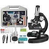 Amscope Kinder weißes Mikroskop Experimentierset , 6-fache Vergrößerung 20X-1200X, beinhaltet 52-teiliges Zubehör Set und Koffer , 2016 ausgezeichet als eines der Besten Mikroskope für Anfänger