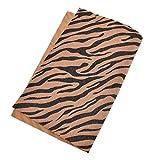 Kesheng A4 Stoff Gewebe Textilien Zebra Muster Farbig