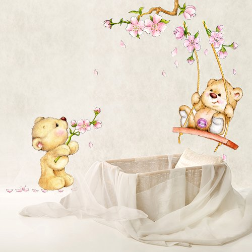 Wall art r00224 adesivo da parete per bambini piccolo - Carta da parati cameretta bimba ...