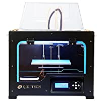 QIDI TECHNOLOGY Dual Extruder Desktop 3D Printer, New Generation QIDI TECH I,Fully Metal Frame Structure - Acrylic Cover,W/2 Free Filaments