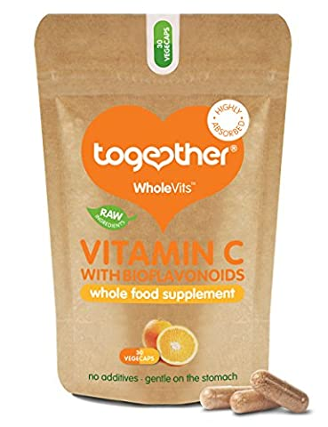 Together Whole Food Complex Vitamin C 30 Kapseln mit Bioflavonoiden, 1er Pack (1 x 200 g)
