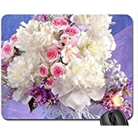 Peony and Roses Mouse Pad, Mousepad (Flowers Mouse Pad)