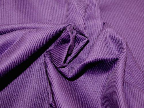 144.78 8 cm breit/Wale und Rippenplüsch aus Baumwolle, für Kleider, Meterware, Violett 8 Wale Corduroy