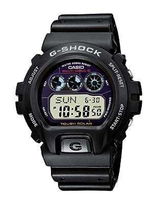 CASIO G-Shock GW-6900-1ER - Reloj de caballero de cuarzo, correa de resina color negro (con radio, cronómetro, alarma, luz)