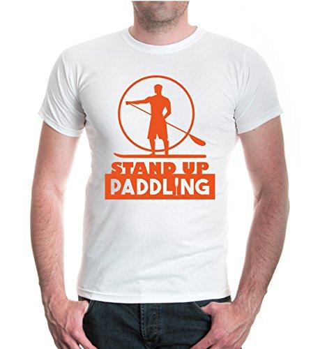 buXsbaum® T-Shirt Stand Up Paddling White-Orange
