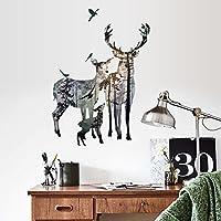 kuamai Pegatinas Para Pared Ciervo Forestal Salón Restaurante Oficina Decoración Vinilos Adhesivos Arte Cartel Mural
