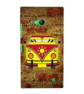 City Cab Vintage 3D Hard Polycarbonate Designer Back Case Cover for Nokia Lumia 730 :: Microsoft Lumia 730 :: Microsoft Lumia 735