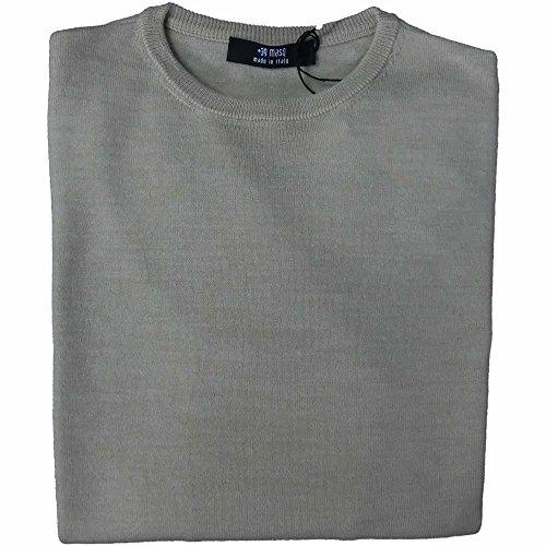 Masq Rebel maglia uomo 1349 - Girocollo Finezza 12, 43% acrilica 25% lana merinos 17% poliammide 15% viscosa, Beige (xl)