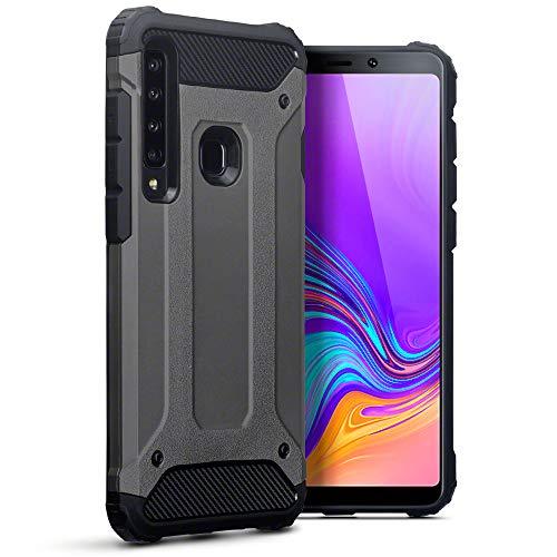 TERRAPIN, Kompatibel mit Samsung Galaxy A9 2018 Hülle, TPU + PC Schutzhülle Tasche - Geschützmetall