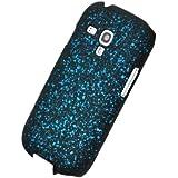 Circle Case Coque pour Samsung Galaxy S3 Mini I8190 Motif Espace Galaxie Univers Nebuleuse Hologramme Noir/Bleu