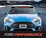 CELYCASY Autocollant pour pare-brise Ford Performance Motif bande de soleil...