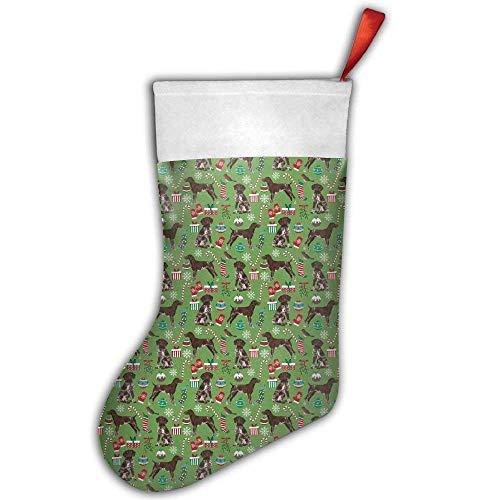 Fedso deutsches Kurzhaar-Zeigerhund, Weihnachtsfeier, Weihnachtsstrumpf, Weihnachtsstrumpf, Verschiedene Weihnachtsmannsgeschenke, Socken, Hängezubehör für Weihnachtsbaum-Dekoration