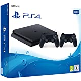 PlayStation 4 - Konsole (500GB, schwarz, slim) inkl. 2. DualShock Controller