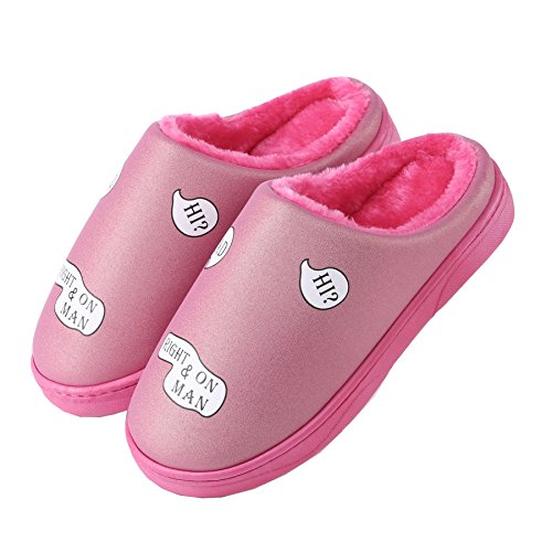 Bundinha De chinelos Pu Sapatos Impermeáveis Rosa Couro Pl¨¹sch Quentes unissex Inverno qpUxEEY