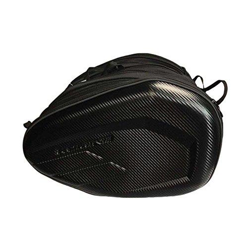 GeKLok Motorrad Sattel Taschen, Nacht Reflektierend Wasserdicht Schwere Cool Schwarz Motorrad Seite Satteltasche–Set von 2Staubbeutel, Carbon Stripe