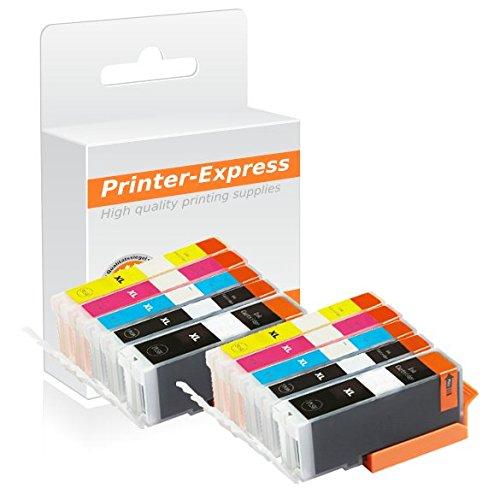 Printer-Express XL 10er Set Patronen ersetzt Canon PGI-570, CLI-571 für Canon Pixma MG 5750 / MG 5750/ MG 5751 / MG 5752 / MG 5753 / MG 6850 / MG 6851 / MG 6852 / MG 6853 / MG 7750 / MG 7751 / MG 7752 / MG 7753 Drucker