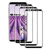 AYUBMR [3-Pièces] Verre Trempé pour Samsung Galaxy S9 Plus, Protection Écran pour Samsung Galaxy S9 Plus Couverture Complète [Ultra Claire] [Dureté 9H] Film Protection pour Samsung Galaxy S9 Plus en Verre Trempé【Noir】