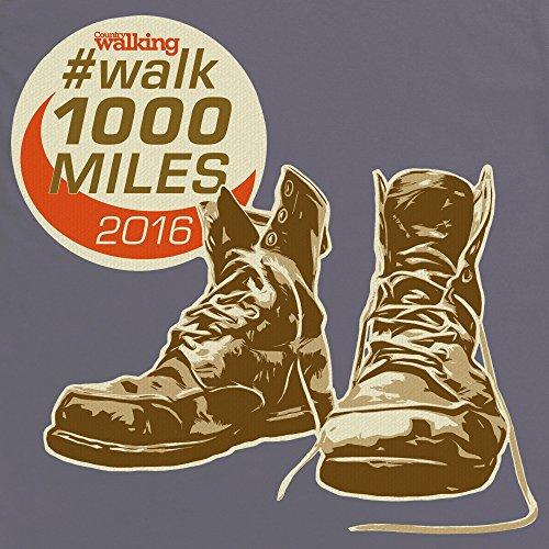 Walk 1000 Miles 2016 Boots T-Shirt, Herren Anthrazit