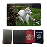 GoGoMobile Muster PU Passdecke Inhaber // M00124204 Katzengras Lookout Nette // Universal passport leather cover