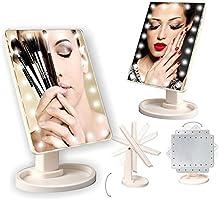 Buffer B07YT0045 22 Ledli 360 Derece Dönebilen Makyaj Aynası