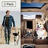 Drivaid Hunde Sicherheitsgurt für Auto, mit Elastischer Rückdämpfung, Auto-Gurt-Adapter, und 2 Schichten Hochdichten Nylongewebe, Autogurt-Adapter für Auto-Rückbank, Extra Lang,110-158cm