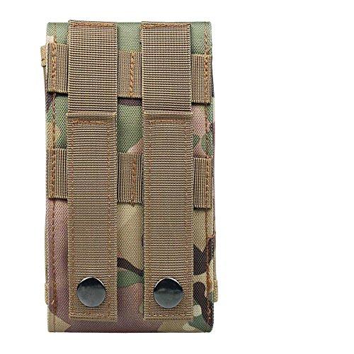 xhorizon(TM)MW8 M Größe 1000D Nylon Tactical Außen MOLLE Armee Camo Camouflage TaschenhakenSchleife Gürteltasche Holster Hülle für Multi Handy Modell #A1 Camouflage Grün