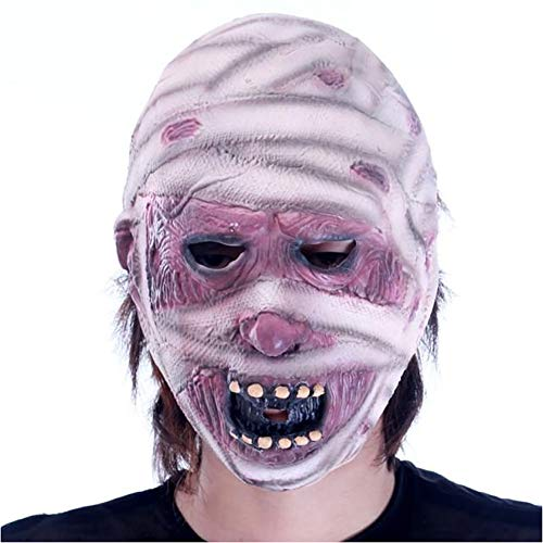 (Ouken Horror-Maske Zombie-Maske Latex biochemische Monster-Maske Anzug Kostüm Party Halloween)